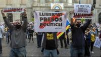 Protesta que l'ANC va organitzar a finals de setembre per la inhabilitació del president Torra