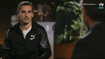 Griezmann en un moment de l'entrevista