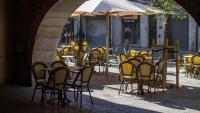 Una terrassa d'un bar a Girona