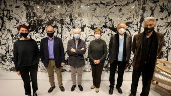 L'equip de cinc coordinadors a la llibreria Ona: Mita Casacuberta, Joaquim Albareda, Borja de Riquer, Isabel Rodà, Josep Ramoneda (Grup 62) i Josep M. Salrach