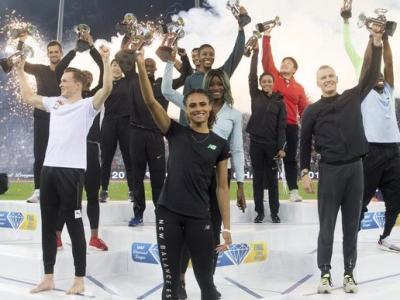 Els vencedors de la lliga del Diamant , el 2019 a Zuric