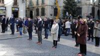 Diferents autoritats polítiques a l'acte a plaça de Sant Jaume