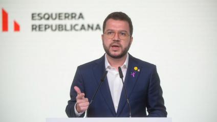 El vicepresident de la Generalitat i coordinador nacional d'ERC, Pere Aragonès