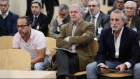 D'esquerra a dreta, Álvaro Pérez 'El Bigotes', Pablo Crespo i Francisco Correa en una jornada del judici de la trama valenciana de la Gürtel a l'Audiència Nacional