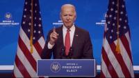 Joe Biden, president electe dels EUA, durant una roda de premsa a Delaware