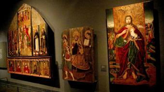 Algunes de les peces de la Franja exposades al Museu de Lleida