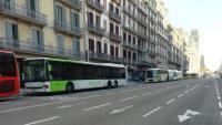 Autocars a la Ronda Universitat de Barcelona