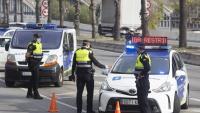 Un control policial per garantir el confinament perimetral a Barcelona
