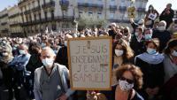Manifestació contra l'assassinat de Paty, el 18 d'octubre a Montpeller