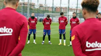 Messi, al costat d'Alba, Trincão i Pjanic