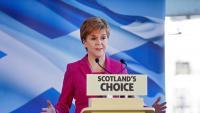 Nicola Sturgeon, ministra principal d'Escòcia, durant una intervenció a Edimburg, el desembre passat