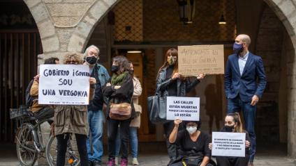 Protesta d'autònoms a la plaça del Vi de Girona fa una setmana