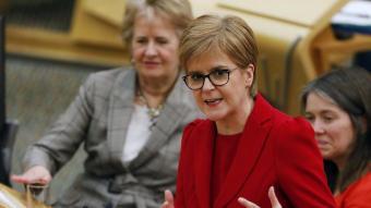 Nicola Sturgeon , que s'ha convertit en una de les líders mundials més respectades  per la gestió de la pandèmia, en una imatge d'arxiu