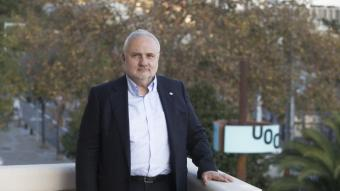 Josep A. Planell, a la seu de  la UOC, a l'avinguda Tibidabo de Barcelona
