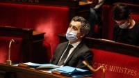 El ministre de l'Interior francès, Gérald Darmanin, durant l'aprovació de la llei de seguretat a l'Assemblée Nationale