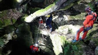 Imatge del rescat de l'espeleòkeg