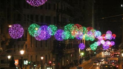 Llums de Nadal a la Via Laietana de Barcelona