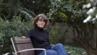 Imma Monsó, als jardins del Palau Robert de Barcelona