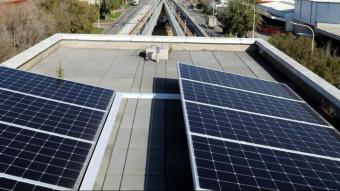 Plaques fotovoltaiques a Barcelona