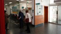 Una vista de l'accés general a l'hospital de Campdevànol