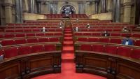 Vista del ple del Parlament, aquest dimecres a la tarda