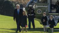 Donald Trump amb els seus nets a la Casa Blanca, a Washington