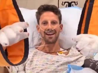 Grosjean a l'hospital