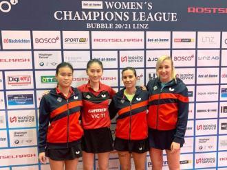 El Girbau Vic amb Muñoz, Zhang, Feher i Carey a Linz