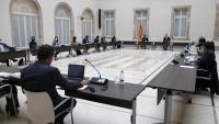 La reunió de la Mesa de grups del Parlament sobre les eleccions del 14-F