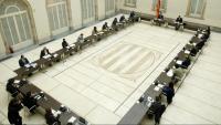 Reunió de la taula de partits, ahir al Parlament