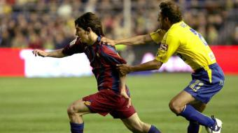 Leo Messi, en un partit contra el Cadis l'any 2005