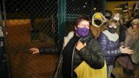 Dolors Bassa divendres al vespre, en el moment del reingrés a la presó de Puig de les Basses