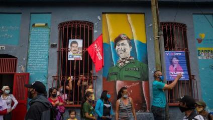 Acte de campanya de les eleccions legislatives, a Caracas