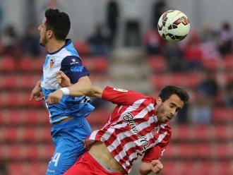 Yeray i Coris , en l'últim Girona-Sabadell de lliga, el 2015