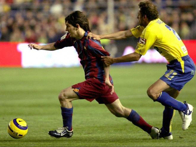 Leo Messi, en un partit contra el Cadis l'any 2005
