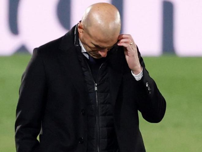 Zidane, dubitatiu durant un partit
