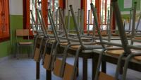 Imatge d'una aula buida
