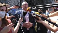 Puig, en una roda de premsa després de comparèixer davant la justícia belga el 2020