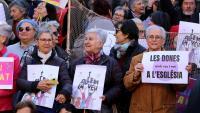 El Dia de la Dona del 2020, poc abans de començar la pandèmia , les dones d'Església es van concentrar davant la catedral de Barcelona per exigir igualtat