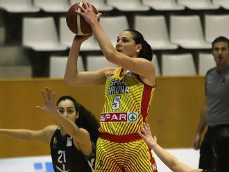 Sonja Vasic (18 punts, 28 de valoració i MVP de la jornada), aquest 11 de gener a Fontajau