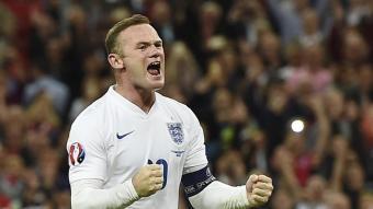 Rooney celebra un gol amb Anglaterra