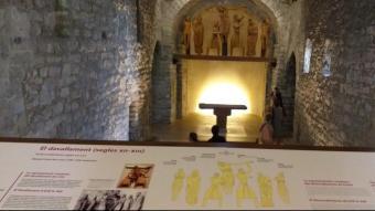 Interior de l'església de Santa Eulàlia d'Erill la Vall