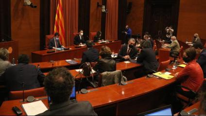 La taula de partits, reunida divendres passat al Parlament