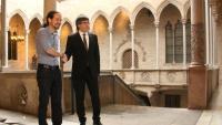 Iglesias i Puigdemont, en una imatge d'una trobada a la Generalitat, l'abril del 2016