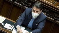 Giuseppe Conte, primer ministre italià, durant la sessió d'ahir a la Cambra dels Diputats