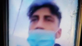 Haddadi, en una imatge del vídeo que va gravar ell proferint amenaces