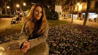 Laura Ormella a Urquinaona, escenari de les protestes juvenils contra la sentència del procés