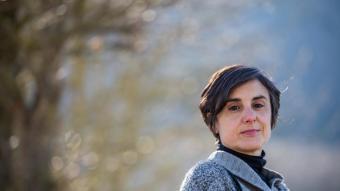 Laia Costa, a la fageda d'en Jordà, dimarts passat