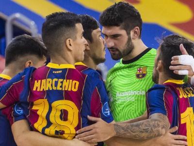 Els blaugrana celebren un gol contra el Pristina
