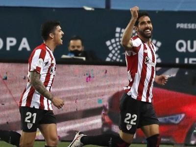 Raúl García celebra un dels seus gols al Madrid